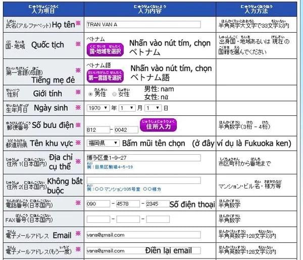 cách điền đăng ký thi JLPT tại Nhật